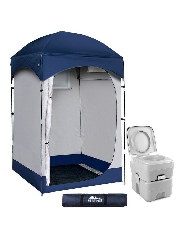20L Outdoor Portable Toilet Camping Shower Tent Change Room Ensuite image 1