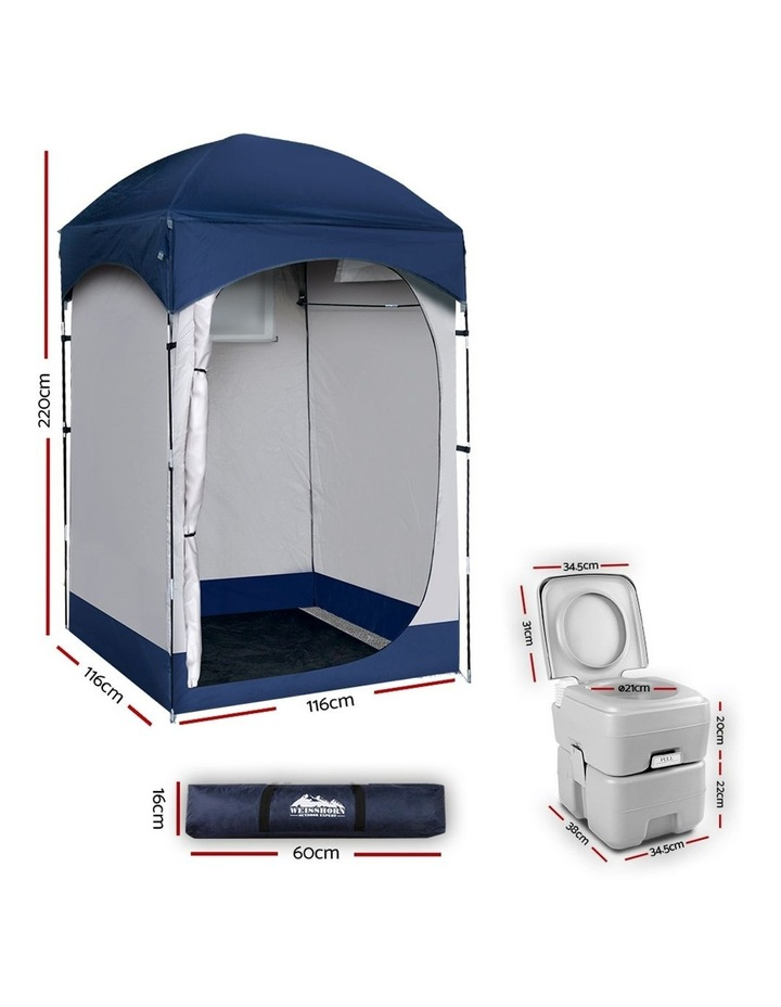 20L Outdoor Portable Toilet Camping Shower Tent Change Room Ensuite image 2