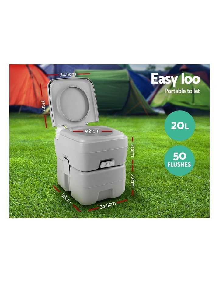 20L Outdoor Portable Toilet Camping Shower Tent Change Room Ensuite image 5