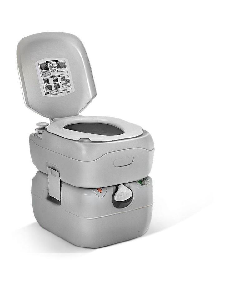 Portable 22L Outdoor Toilet in Silver image 1