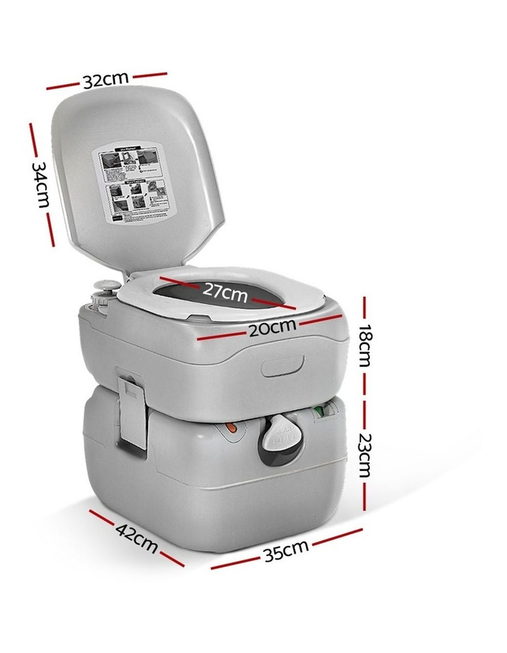 Portable 22L Outdoor Toilet in Silver image 2