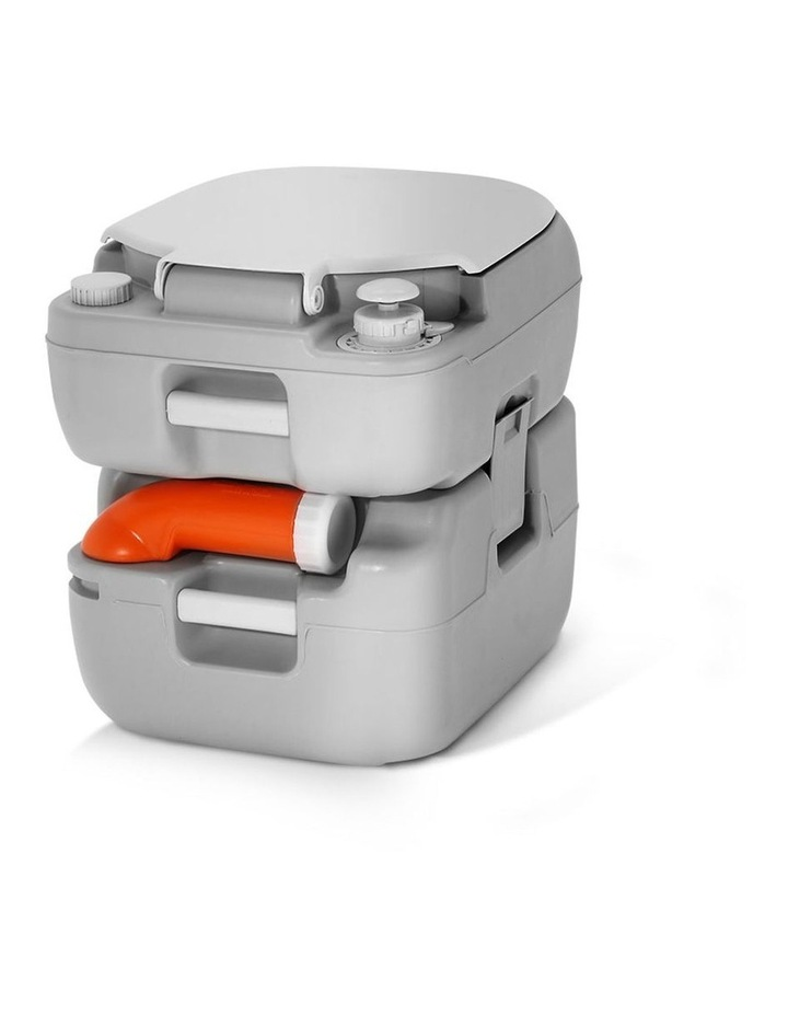 Portable 22L Outdoor Toilet in Silver image 5