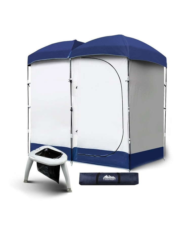 Double Camping Shower Tent Portable Toilet Outdoor Change Room Ensuite image 1