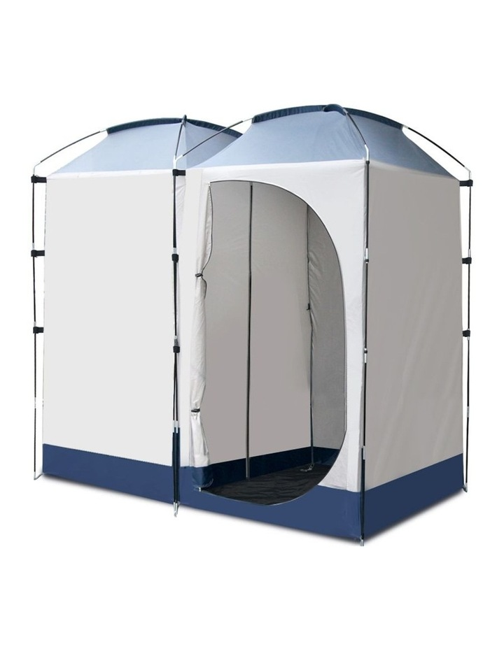 Double Camping Shower Tent Portable Toilet Outdoor Change Room Ensuite image 3