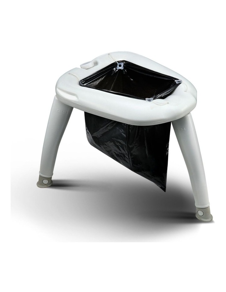 Portable Folding Outdoor Camping Toilet in Grey image 1