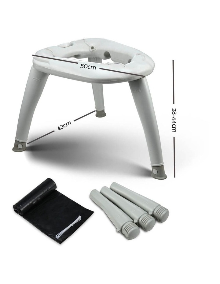Portable Folding Outdoor Camping Toilet in Grey image 2