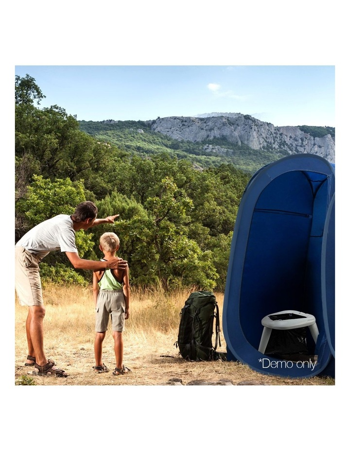 Portable Folding Outdoor Camping Toilet in Grey image 3