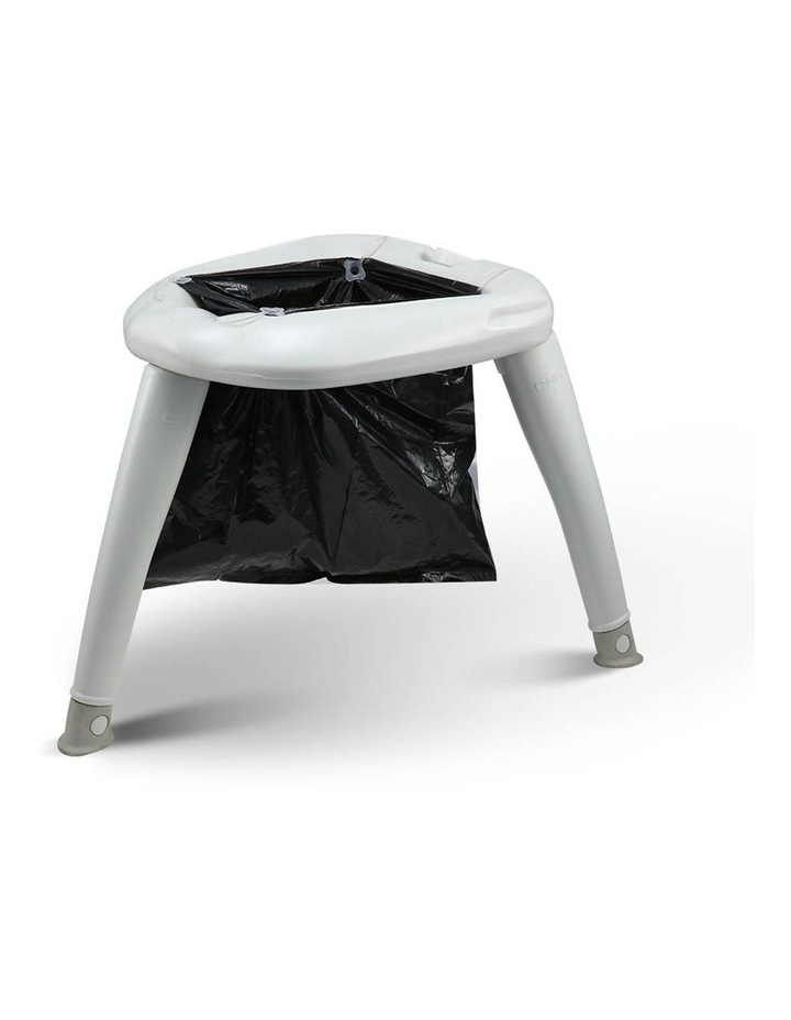 Portable Folding Outdoor Camping Toilet in Grey image 4