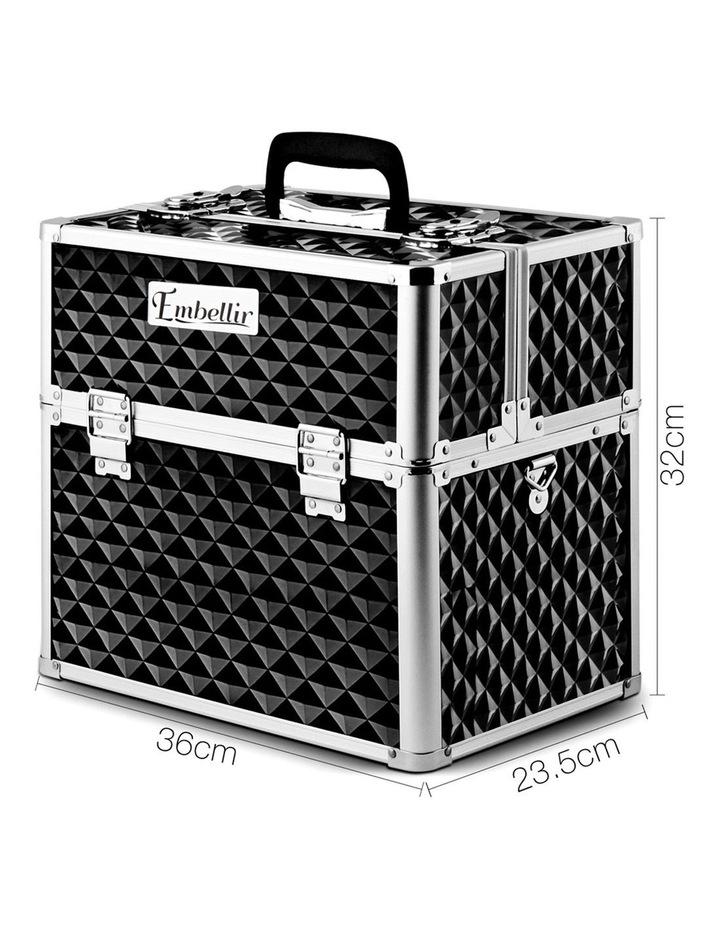 Portable Cosmetic Beauty Makeup Carry Case - Diamond Black image 2