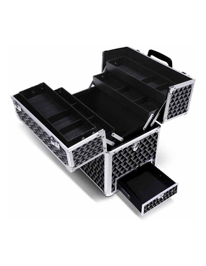 Portable Cosmetic Beauty Makeup Carry Case - Diamond Black image 5