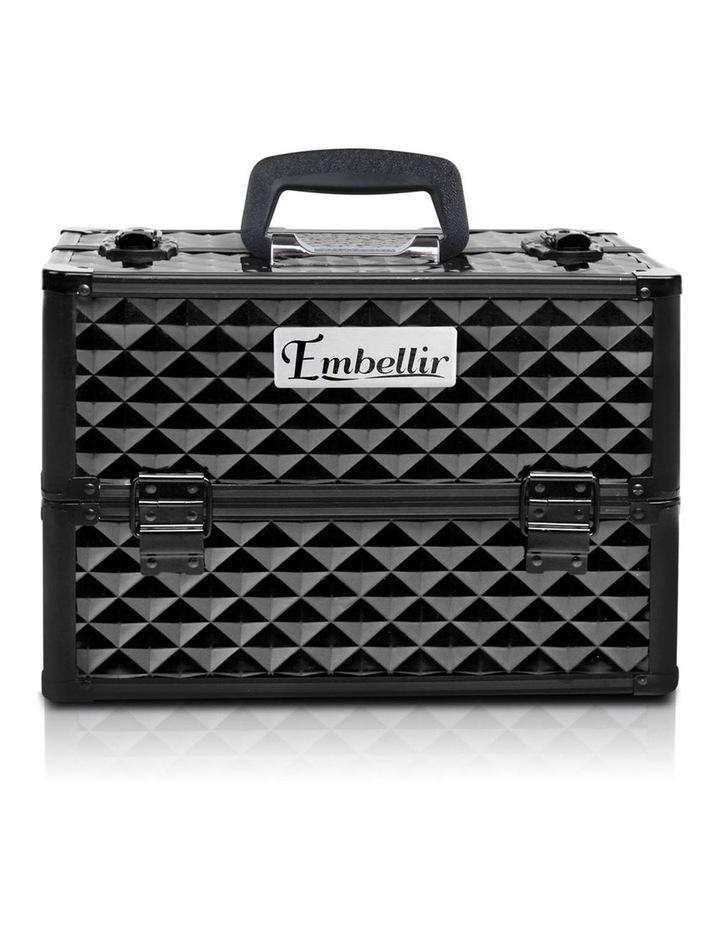 Portable Cosmetic Beauty Makeup Case - Diamond Black image 4
