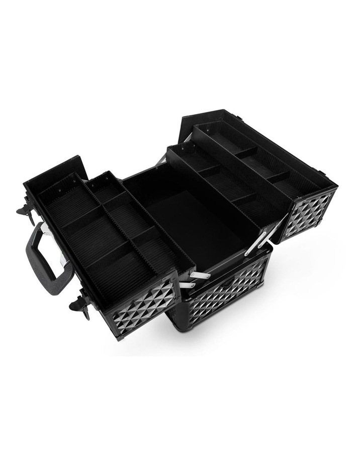 Portable Cosmetic Beauty Makeup Case - Diamond Black image 5