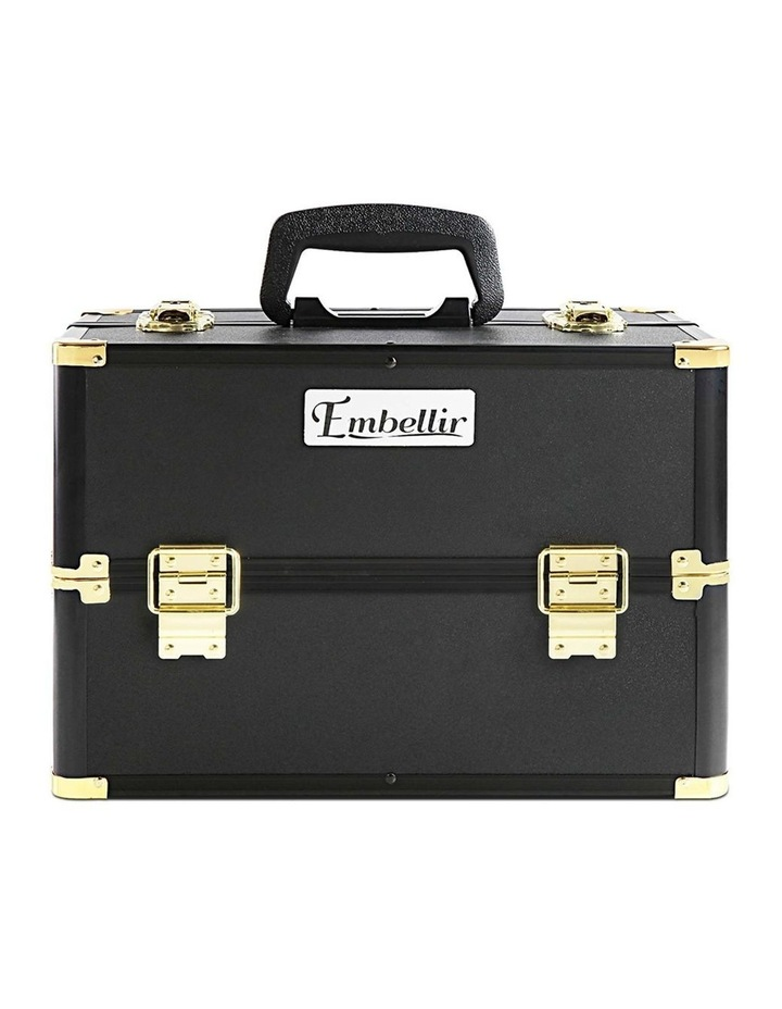 Portable Cosmetic Beauty Makeup Case - Black & Gold image 4