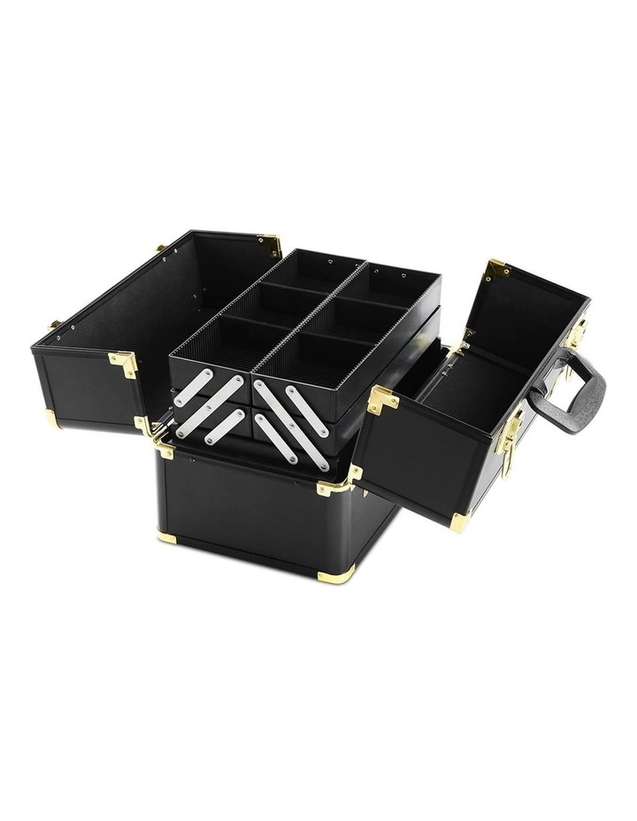 Portable Cosmetic Beauty Makeup Case - Black & Gold image 5