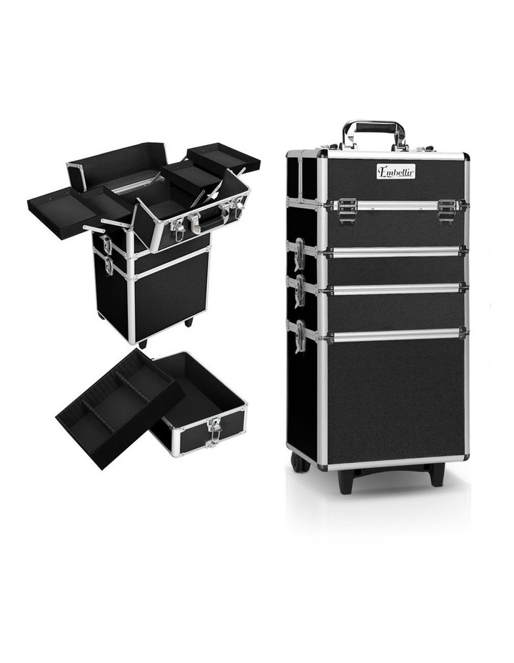 7 in 1 Portable Cosmetic Beauty Makeup Trolley - Black image 1