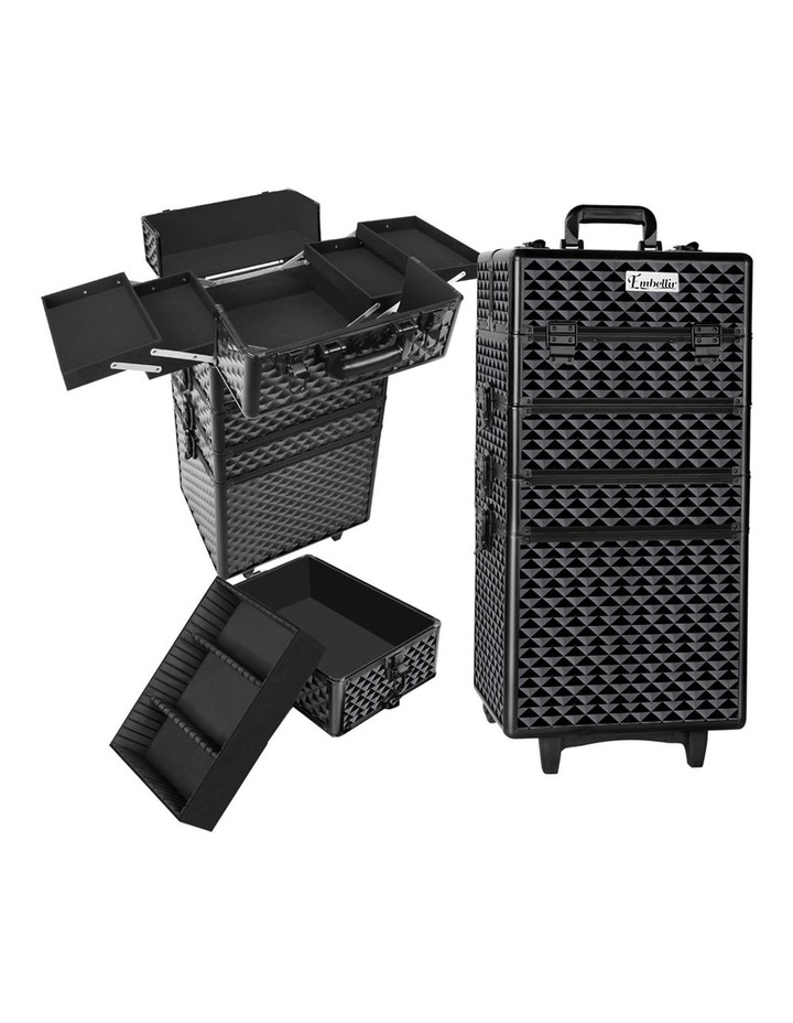 7 in 1 Portable Cosmetic Beauty Makeup Trolley - Diamond Black image 1