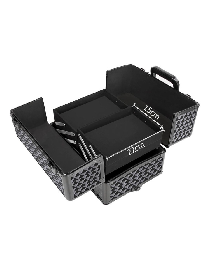 7 in 1 Portable Cosmetic Beauty Makeup Trolley - Diamond Black image 3