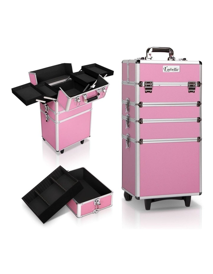 7 in 1 Portable Cosmetic Beauty Makeup Trolley - Pink image 1