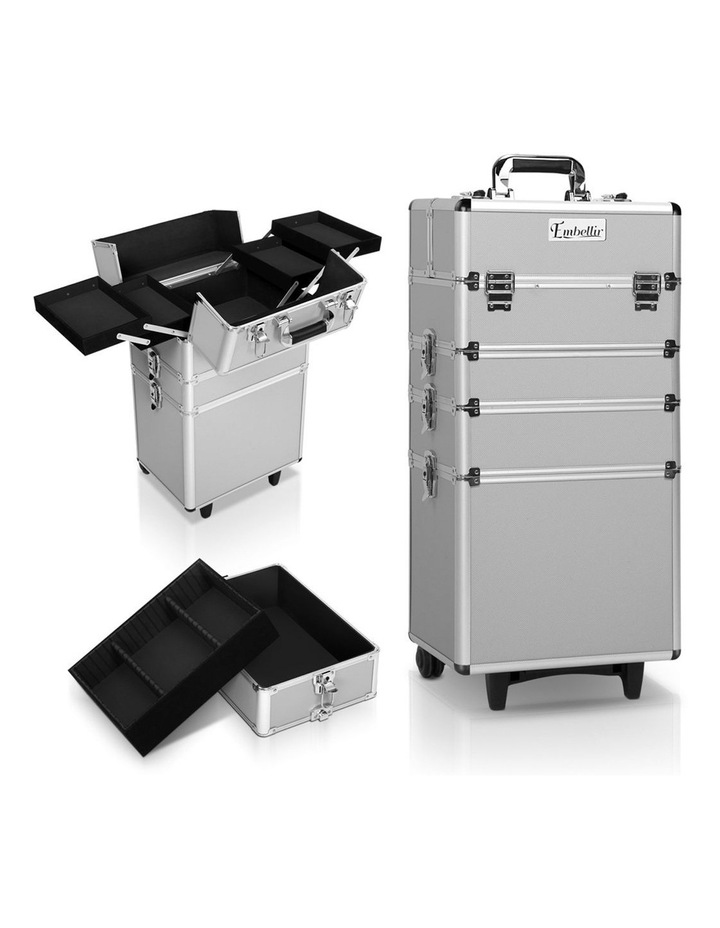 7 in 1 Portable Cosmetic Beauty Makeup Trolley - Silver image 1