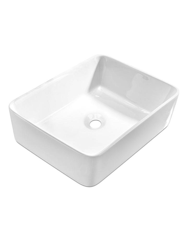 Ceramic Rectangle Sink Bowl - White image 1