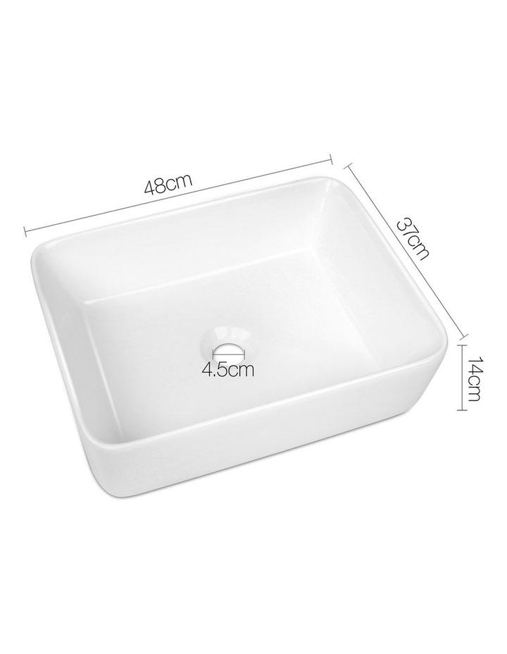 Ceramic Rectangle Sink Bowl - White image 2