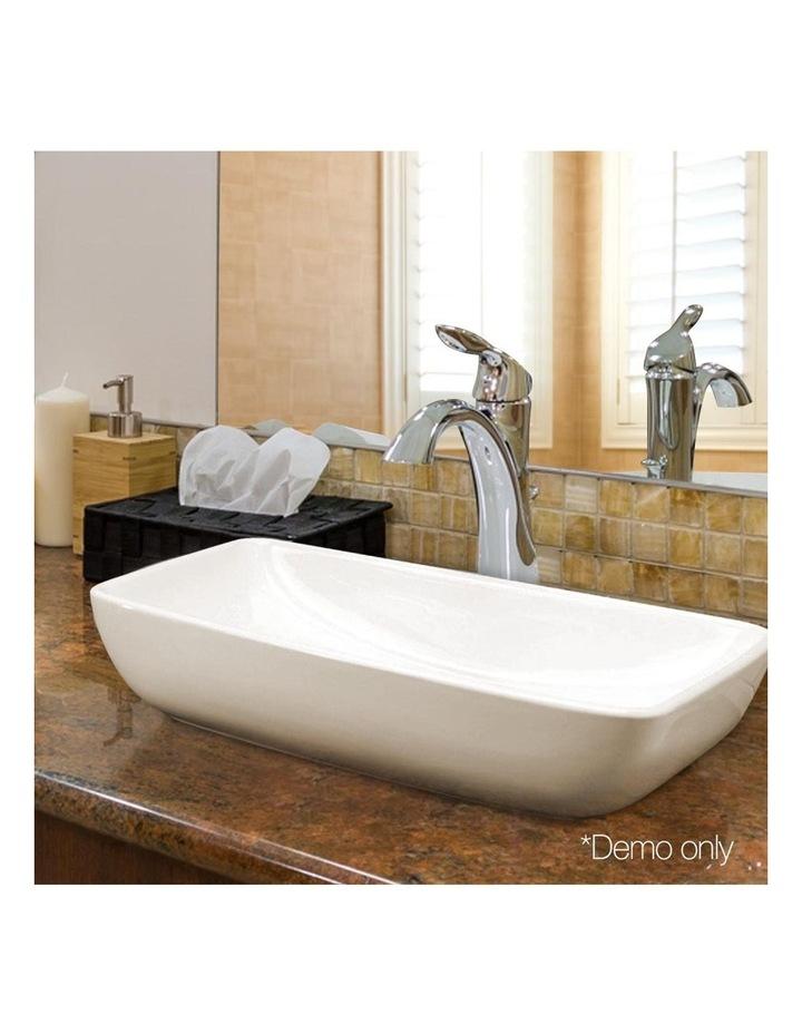 Ceramic Rectangle Sink Bowl - White image 7