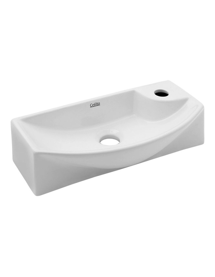 Ceramic Bathroom Basin - White image 1