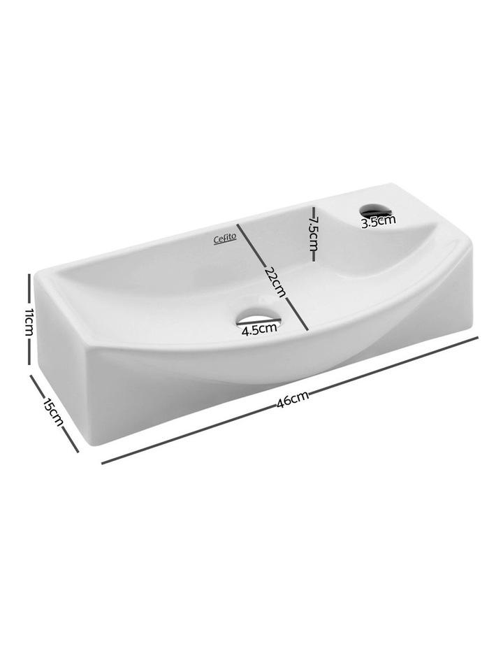 Ceramic Bathroom Basin - White image 2