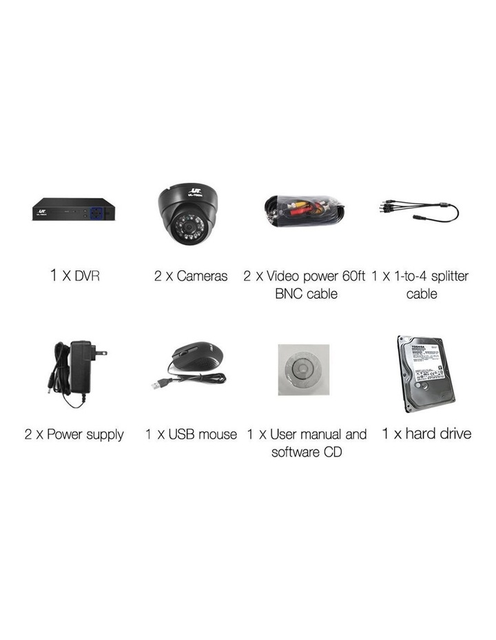 CCTV Security   2 Camera Sets image 4