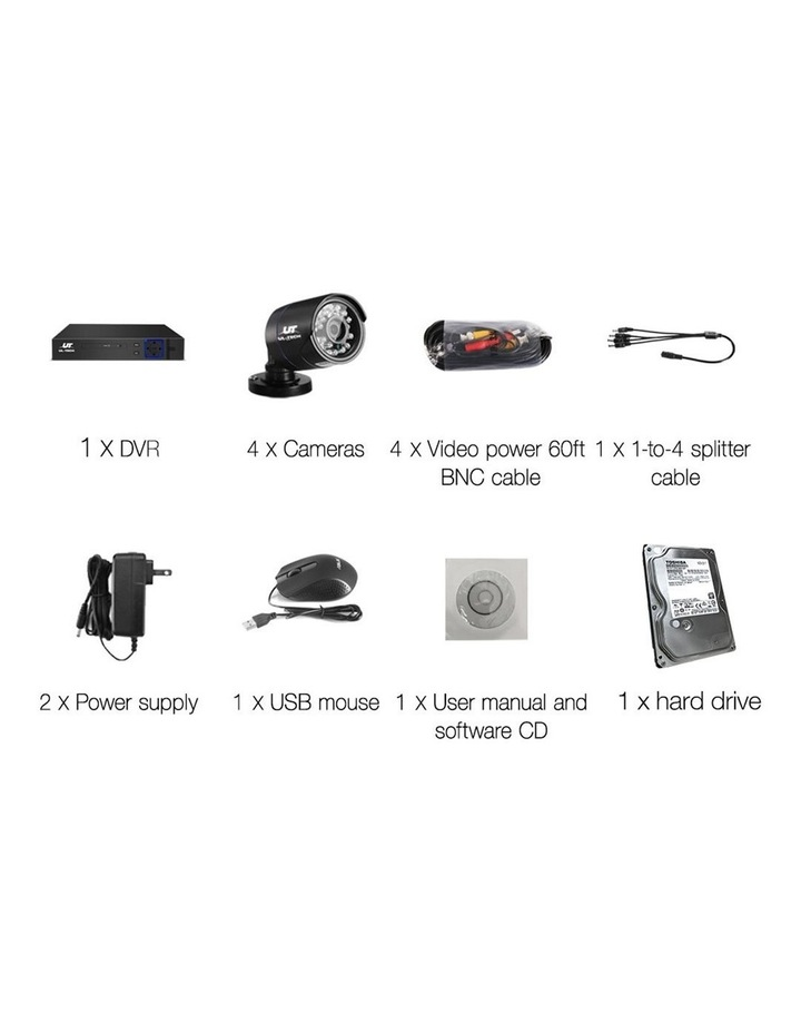 720P 4 Channel Camera with 1TB Hard Drive image 2