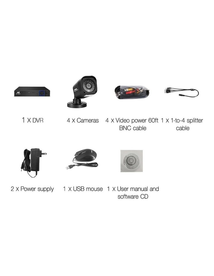 CCTV Security 4 Cameras 1080P Video Home Outdoor IP image 5