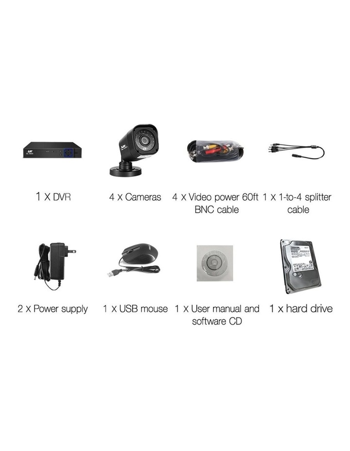 CCTV Security  2TB 8CH DVR 1080P 4 Camera Sets image 4