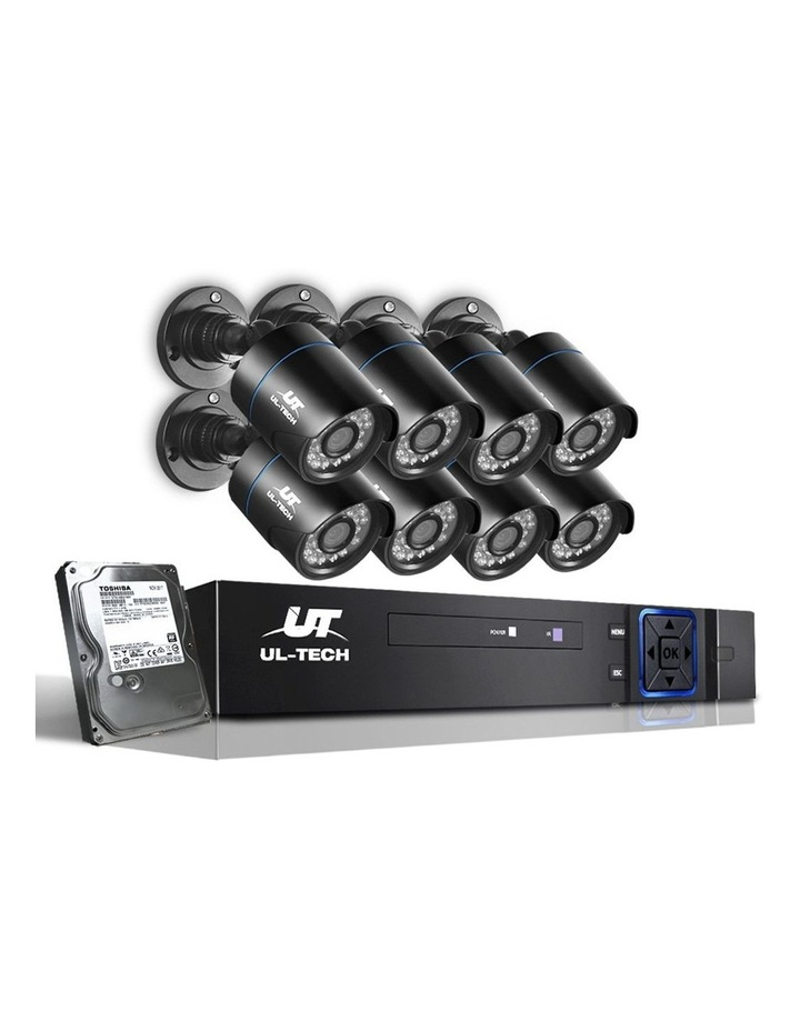 CCTV Security  2TB 8CH DVR 1080P 8 Camera Sets image 1