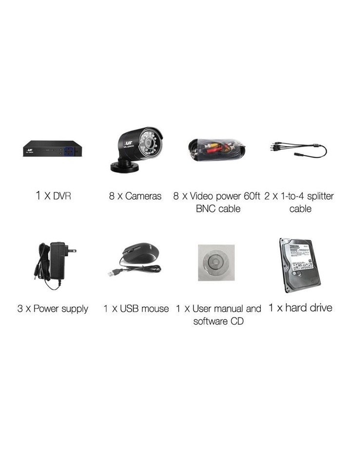 CCTV Security  2TB 8CH DVR 1080P 8 Camera Sets image 4