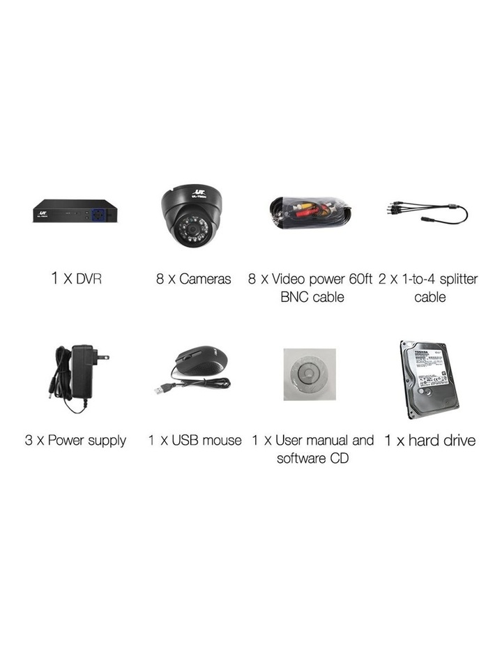 CCTV Security  2TB 8CH DVR 1080P 8 Camera Sets image 4