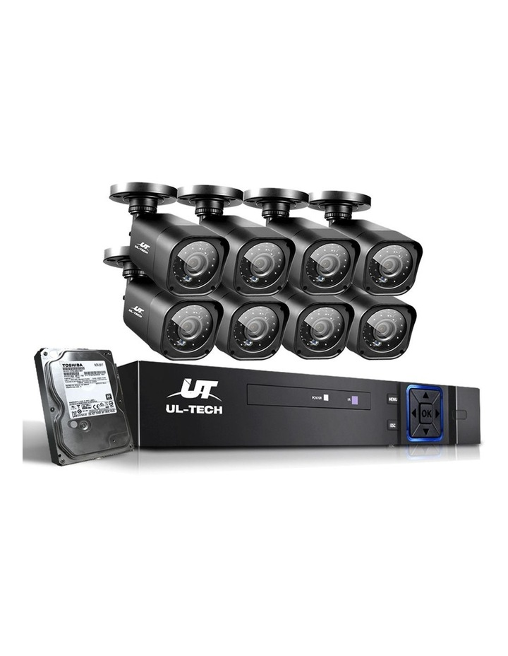 1080P 8-Channel Outdoor CCTV Security Camera with 2TB Hard Drive (8 Square Cameras) image 1