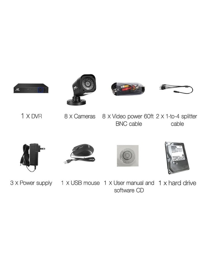 1080P 8-Channel Outdoor CCTV Security Camera with 2TB Hard Drive (8 Square Cameras) image 4