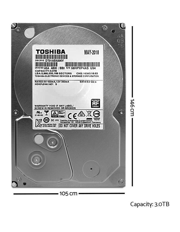 Toshiba Internal CCTV Hard Disk Drive 3TB image 2