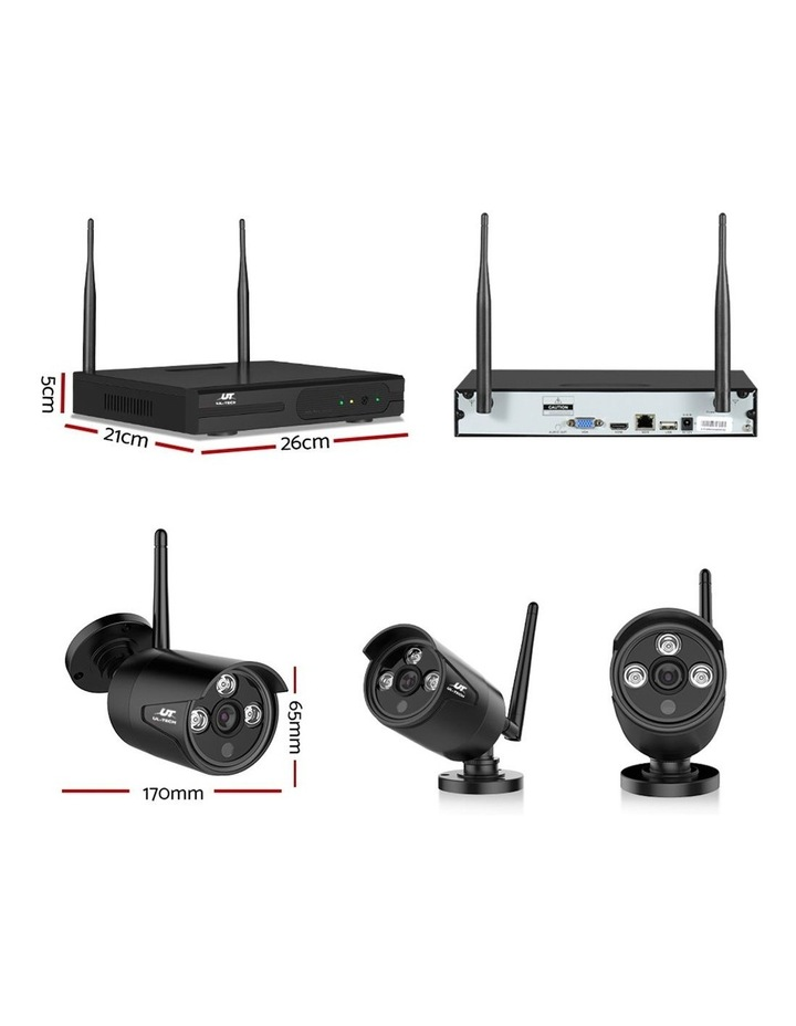 CCTV Wireless Security  2TB 8CH NVR 1080P 4 Camera Sets image 2
