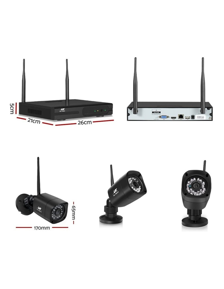 CCTV Wireless 4 Security Camera  Set Outdoor IP WIFI 1080P 8CH NVR image 2
