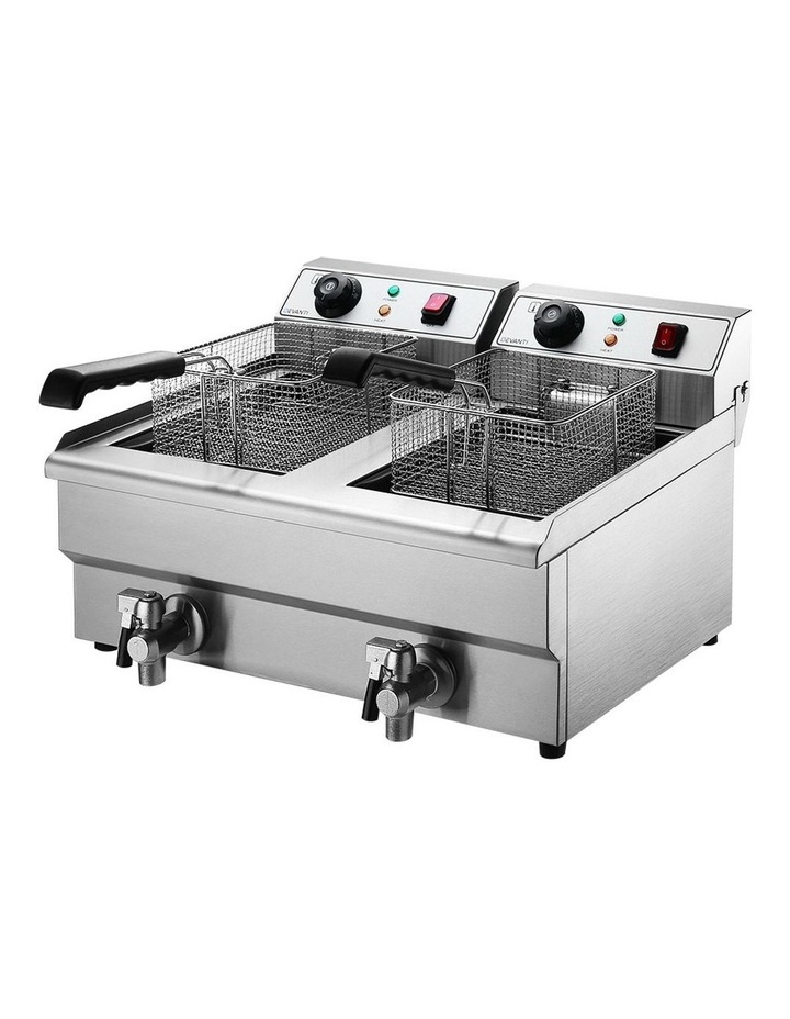 Commercial Electric Deep Fryer Twin Frying Basket Chip Cooker Countertop image 2