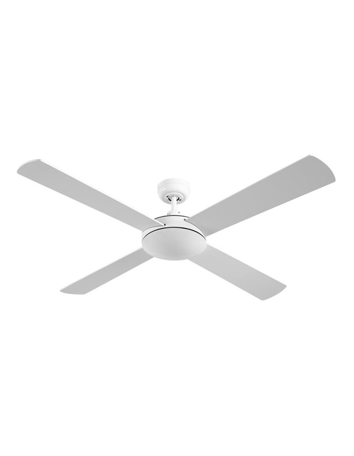 52'' 1300mm Ceiling Fan Wall Control 4 Wooden Blades Cooling Fans Black image 1
