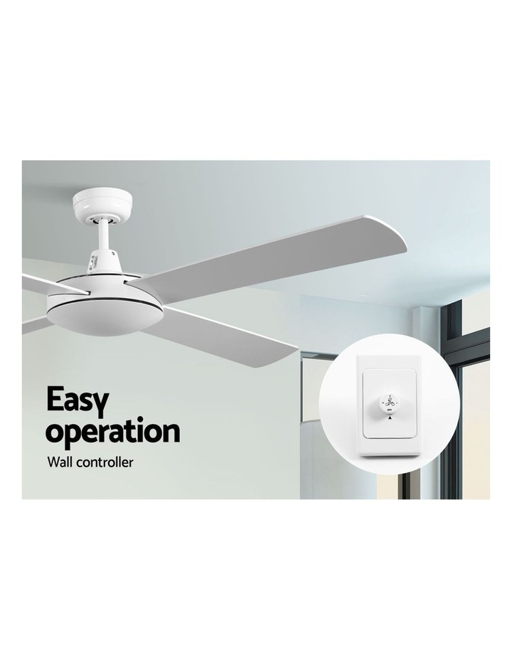 52'' 1300mm Ceiling Fan Wall Control 4 Wooden Blades Cooling Fans Black image 5