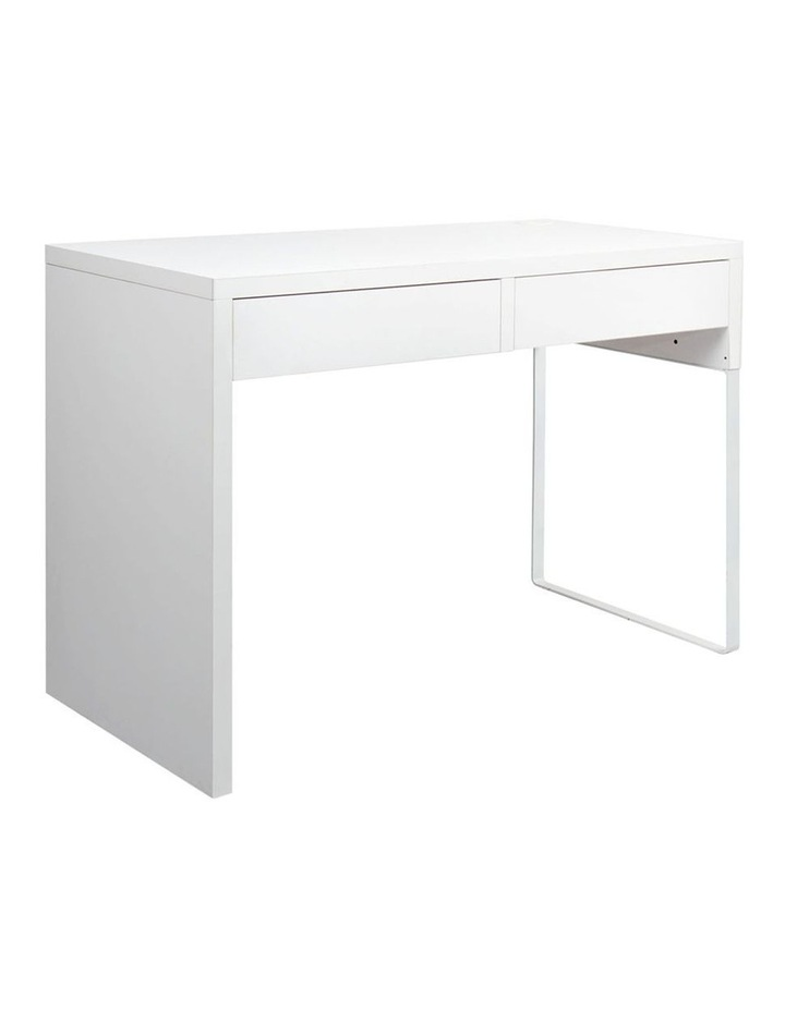 Metal Desk With 2 Drawers image 1