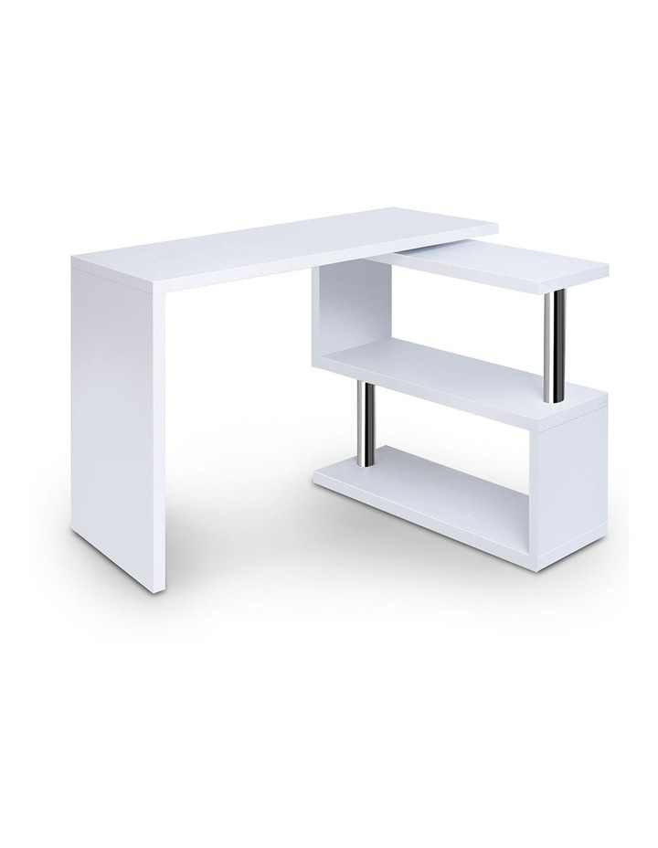 Rotary Corner Desk With Bookshelf image 1