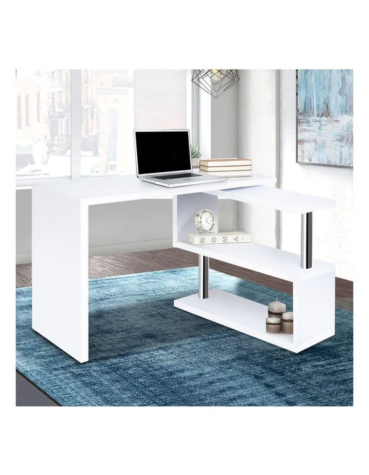 Rotary Corner Desk With Bookshelf image 3