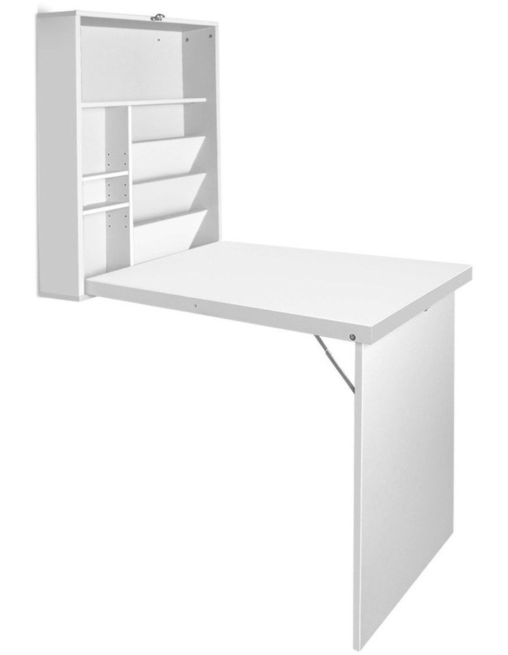 Foldable Desk With Bookshelf image 1
