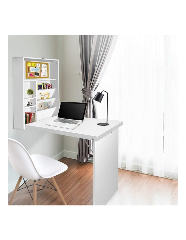 Foldable Desk With Bookshelf image 3