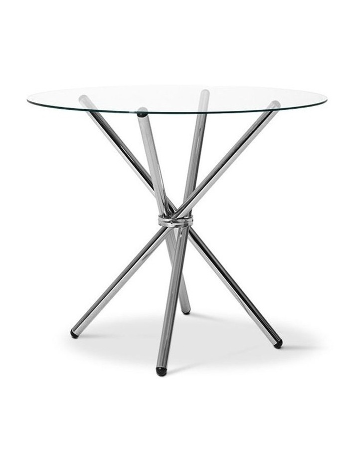 Round Dining Table With Tempered Glass image 1