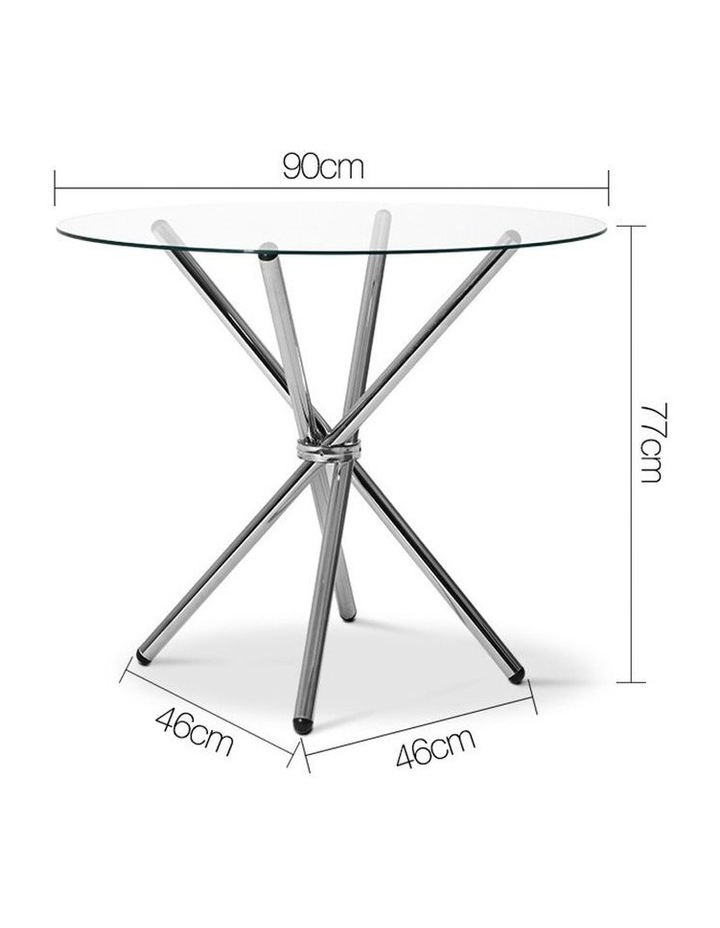 Round Dining Table With Tempered Glass image 2